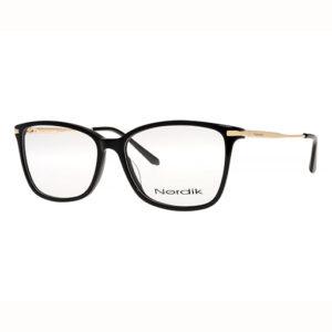 Rama de ochelari neagra pentru femei Nordik